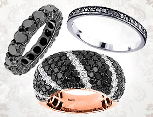 Womens Black Diamond Rings