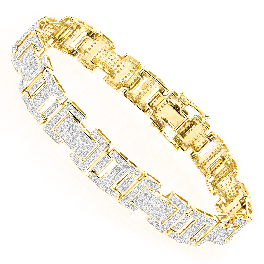10K Gold Diamond Bracelet 3.22ct Yellow Image