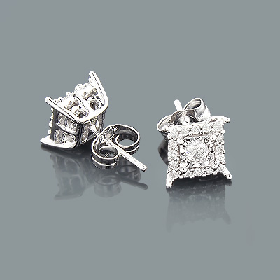 10K Gold Diamond Stud Earrings 1 carat look Main Image