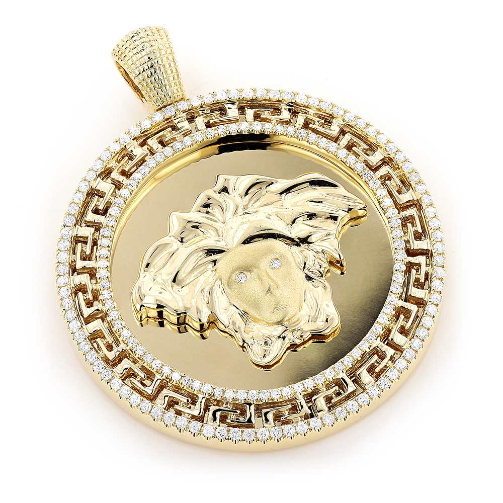 pendant jewelry featuring men gold necklace medusa ring necklaces for fashion charms download medallion on shop mens christopher versace personalised sterling st silver inch polyvore s liked com