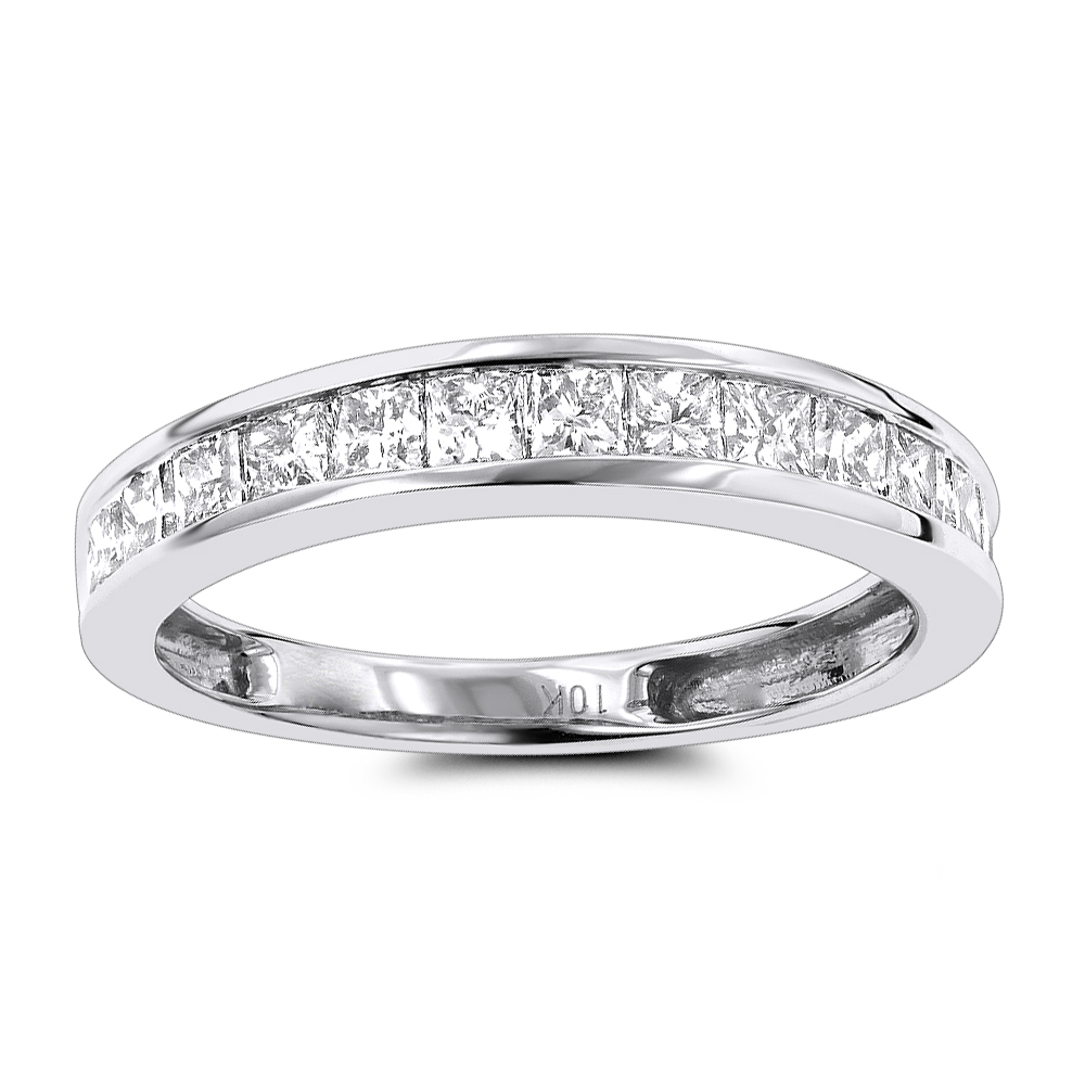 row diamond pave dia princess wedding gold h bands eternity a wg ring cut itm band round small