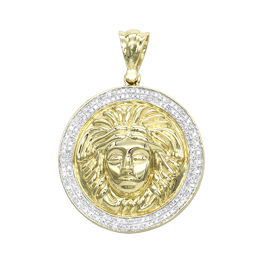 yellow pendants calendar gold large pendant solid page aztec caldendar medallion jewelry sil mens