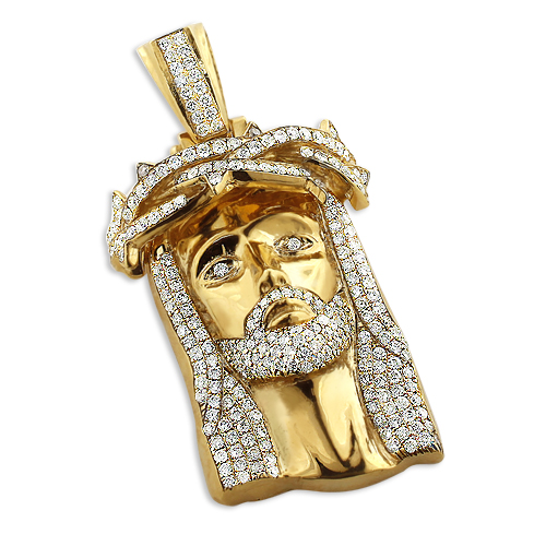 10k solid gold diamond jesus piece pendant hip hop jewelry jesus face mozeypictures Image collections