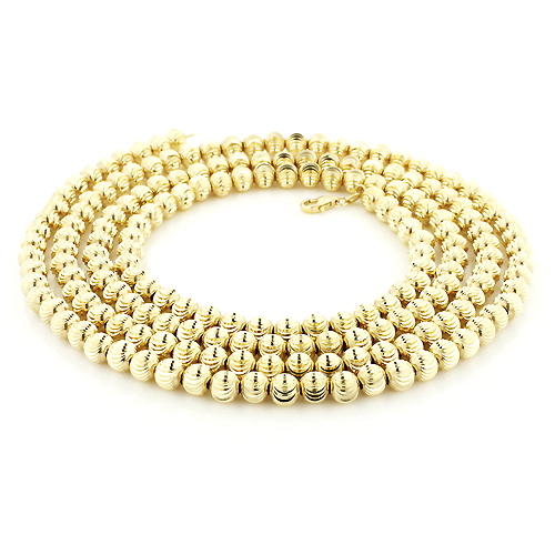 10K Yellow Gold Moon Cut Chain 5mm 22-40in Main Image