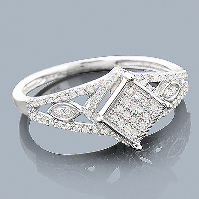 14K Gold Affordable Diamond Engagement Ring 0.31ct