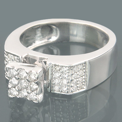 14K Affordable Engagement Rings Collection Piece 0.44ct