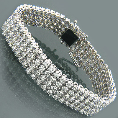 14K Designer Diamond Bracelets Collection Piece 7.00ct