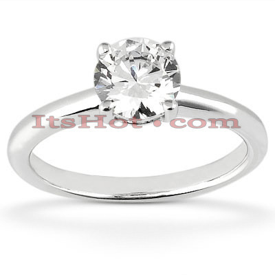 14K Designer Diamond Engagement Ring 1.12ct Main Image
