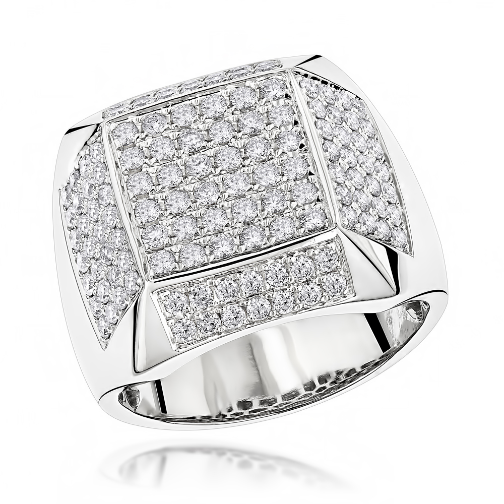 14K Designer Diamond Ring 1.99ct White Image
