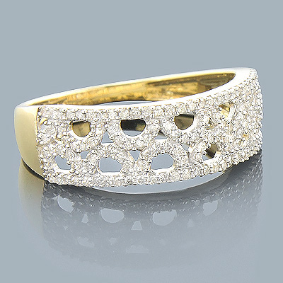 14K Gold Ladies Diamond Circle Ring 0.33ct Main Image