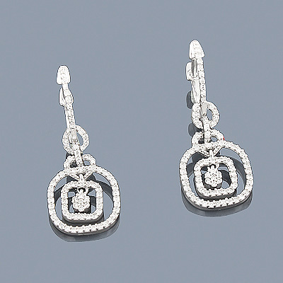14K Diamond Dangle Earrings 0.65ct Main Image