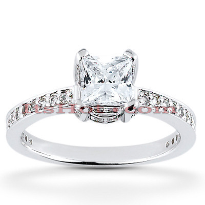 14K Diamond Engagement Ring 0.88ct Main Image