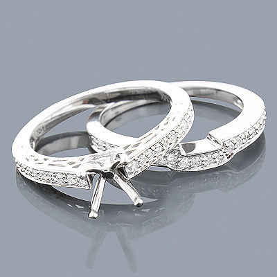 14K Diamond Engagement Ring Mounting Set 0.51ct Main Image