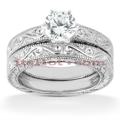 14K Diamond Engagement Ring Set 0.50ct Main Image