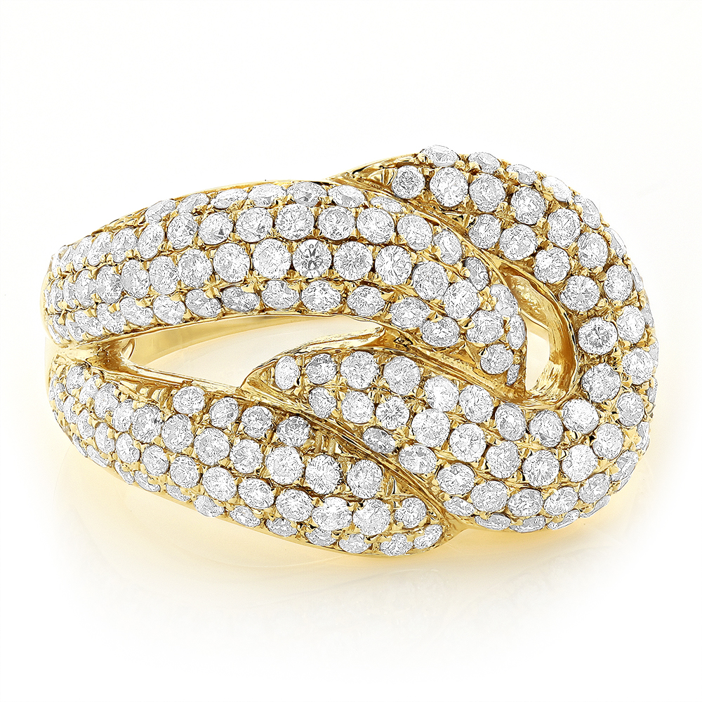 14K Gold Diamond Fashion Ring for Women 2.30ct Yellow Image