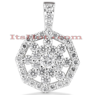 14K Diamond Snowflake Pendant 1.64ct Main Image