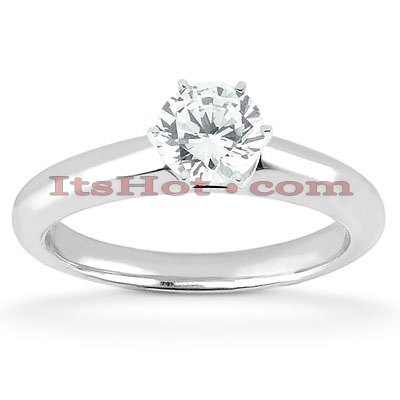 14K Diamond Solitaire Engagement Ring 0.50ct Main Image