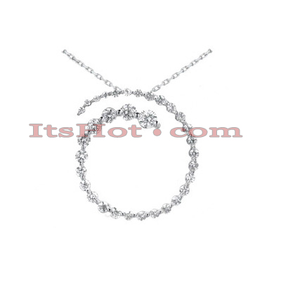14k Gold 33 Stone Diamond Journey Necklace 1.50ct Main Image