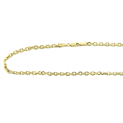 Mens 14K Gold Cable Chain, 20in-40in long, 3mm wide Main Image