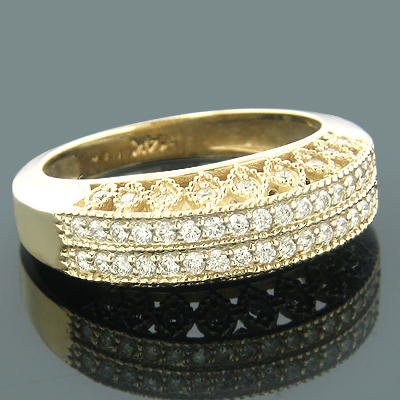 14K Gold Designer Diamond Bands Collection Item 0.60ct Main Image