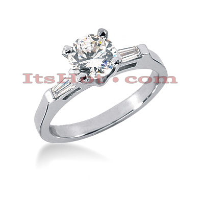 14K Gold Designer Diamond Engagement Ring 0.62ct