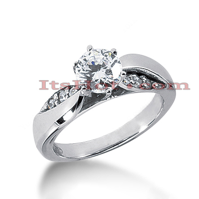 14K Gold Designer Diamond Engagement Ring 0.64ct Main Image
