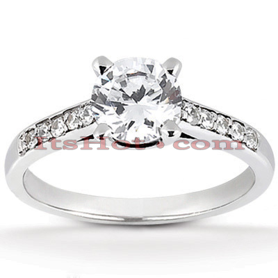 14K Gold Designer Diamond Engagement Ring 0.65ct Main Image