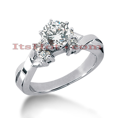 14K Gold Designer Diamond Engagement Ring 0.66ct Main Image