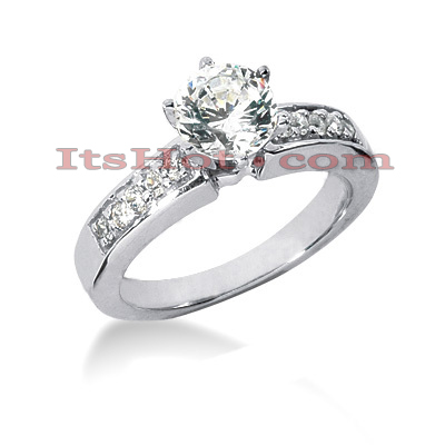 14K Gold Prong Set Designer Diamond Engagement Ring 0.68ct Main Image