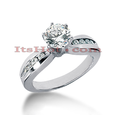 14K Gold Designer Round Diamond Engagement Ring 0.70ct Main Image