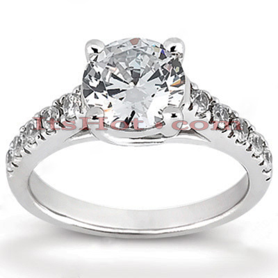 14K Gold Handcrafted Designer Prong Set Diamond Engagement Ring 0.70ct Main Image