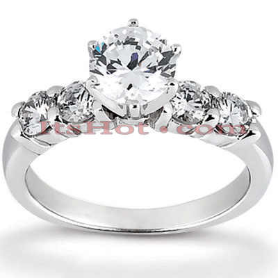 14K Gold Designer Diamond Engagement Ring 0.70ct Main Image