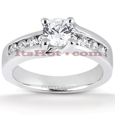 14K Gold Designer Diamond Engagement Ring 0.77ct 3.50mm Main Image