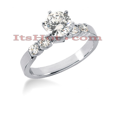 14K Gold Prong Set Diamond Engagement Ring 0.78ct Main Image