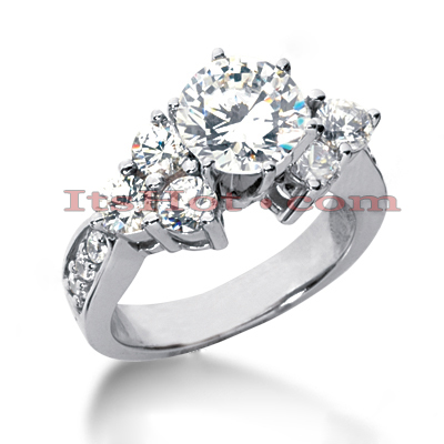 14K Gold Designer Unique Diamond Engagement Ring 0.78ct