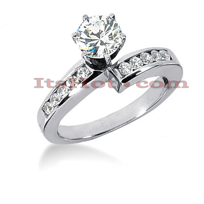 14K Gold Designer Round Diamond Engagement Ring 0.80ct Main Image