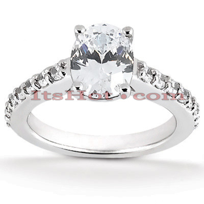 14K Gold Designer Oval Diamond Engagement Ring 0.80ct Main Image