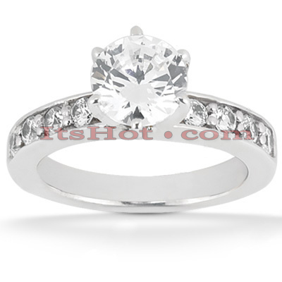 14K Gold Round Diamond Engagement Ring 0.80ct Main Image