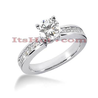 14K Gold Prong Set Designer Diamond Engagement Ring 0.80ct