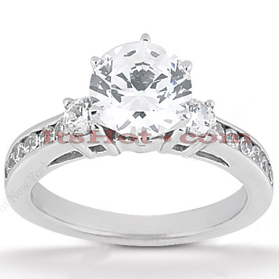 14K Gold Designer Diamond Engagement Ring 0.84ct Main Image