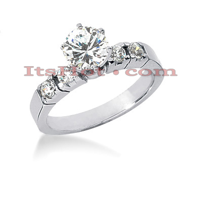 14K Gold Designer Diamond Engagement Ring 0.86ct Main Image