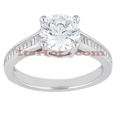 14K Gold Designer Diamond Engagement Ring 0.87ct