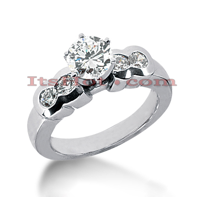 14K Gold Designer Handmade Diamond Engagement Ring 0.90ct Main Image