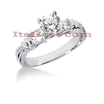 14K Gold Designer Diamond Engagement Ring 0.90ct Main Image