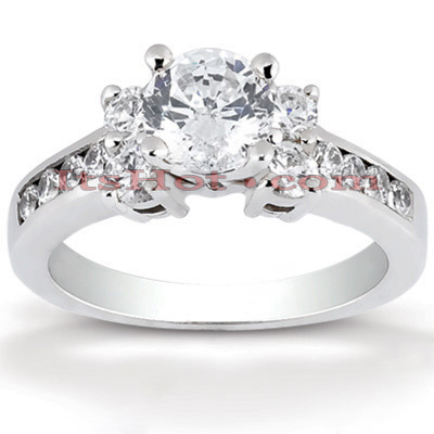 14K Gold Designer Diamond Engagement Ring 1.14ct Main Image