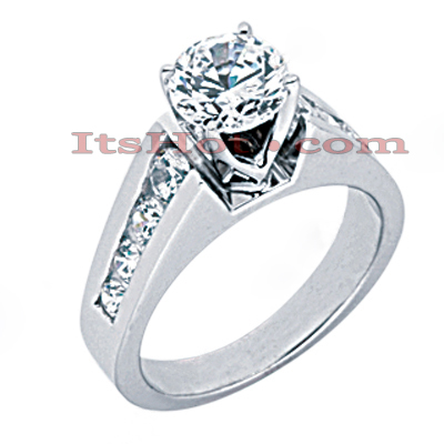 14K Gold Round Diamond Engagement Ring 1.38ct Main Image