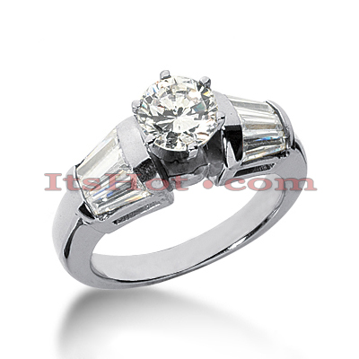 14K Gold Designer Diamond Engagement Ring 1.76ct
