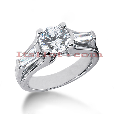 14K Gold Designer Diamond Engagement Ring 2.06ct Main Image