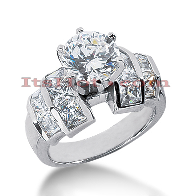 14K Gold Designer Diamond Engagement Ring 2.30ct Main Image