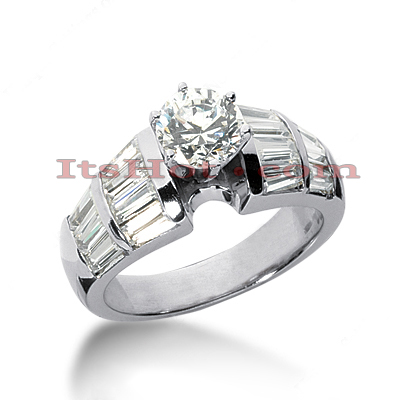 14K Gold Designer Diamond Engagement Ring 2.46ct Main Image